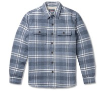 Faux Shearling-Lined Checked Cotton and Wool-Blend Overshirt