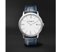 Classima 40mm Steel and Croc-Effect Leather Watch, Ref. No. M0A10508
