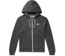 Heritage Mélange Fleece-Back Cotton-Blend Jersey Zip-Up Hoodie