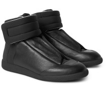 Future Full-grain Leather And Neoprene High-top Sneakers