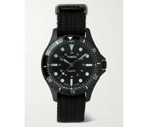 Navi Harbor 38mm Stainless Steel and Nylon-Webbing Watch