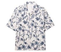 Eren Camp-Collar Printed Cotton-Blend Shirt