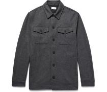 Mélange Brushed Wool-blend Shirt Jacket