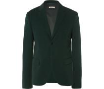 Green Slim-fit Wool Blazer