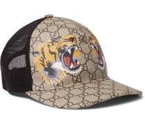 Supreme Printed Coated Canvas And Mesh Baseball Cap