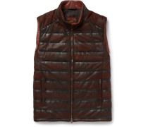 Quilted Waxed-leather Gilet
