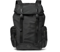 Thompson Leather-trimmed Water-repellant Canvas Backpack