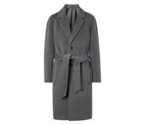 Belted Brushed Virgin Wool and Alpaca-Blend Coat