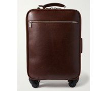 Leather Carry-On Suitcase