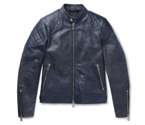 Outlaw 2.0 Burnished-leather Blouson Jacket