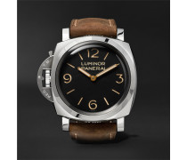 Luminor 1950 Left-handed 3 Days Acciaio 47mm Stainless Steel And Leather Watch