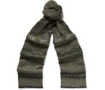 Printed Double-faced Knitted Scarf