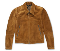 Slim-fit Suede Blouson Jacket