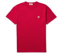 Fox-embroidered Cotton-jersey T-shirt