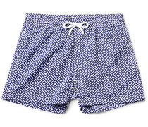 Angra Slim-fit Short-length Printed Swim Shorts