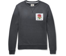 Slim-fit Appliquéd Loopback Cotton-jersey Sweatshirt