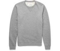 Leather Elbow Patch Cotton Sweatshirt