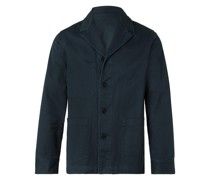 Benjamin Slim-Fit Unstructured Garment-Dyed Cotton-Twill Blazer