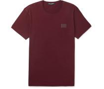 Slim-Fit Logo-Appliquéd Cotton-Jersey T-Shirt