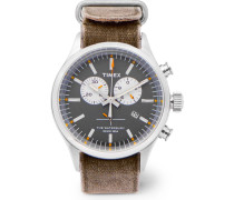Archive Waterbury Chronograph Stainless Steel And Oiled-canvas Watch