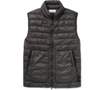 Quilted Garment-dyed Shell Down Gilet