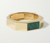 14-Karat Gold and Malachite Ring