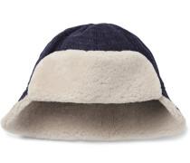 Baker Shearling-trimmed Wool Trapper Hat