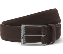 3cm Brown Sartoria Suede Belt