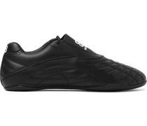 Zen Logo-Print Faux Leather Sneakers