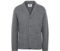 Grey Wallace Slim-fit Boiled Wool Blazer