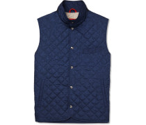 Slim-fit Quilted Printed Shell Gilet