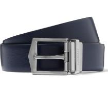 3.5cm Navy Leather Belt