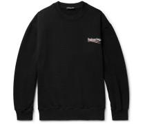 Printed Fleece-back Cotton-blend Jersey Sweatshirt