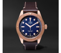 Carl Brashear Bronze And Leather Watch
