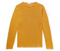 Slub Linen and Silk-Blend Sweater