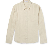 Slim-fit End-on-end Linen Shirt