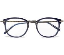 Op-506 D-frame Acetate And Gunmetal-tone Optical Glasses
