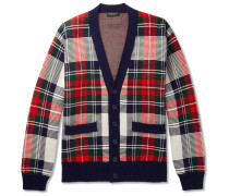 Runway Checked Cashmere And Wool-blend Cardigan