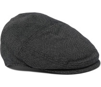 Stretch Cotton And Wool-blend Flat Cap