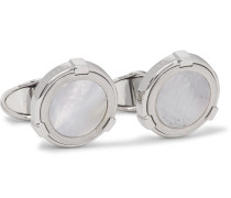 Silver-tone Mother-of-pearl Cufflinks
