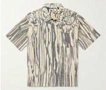 Printed Cotton and Linen-Blend Shirt