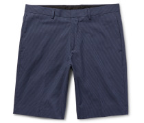 Beck Micro-checked Cotton-blend Shorts