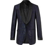 Shelton Leopard-Jacquard Tuxedo Jacket