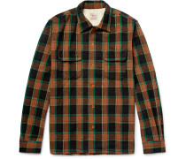 Deluxe Checked Wool-blend Overshirt