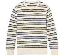 Striped Mélange Knitted Cotton Sweater
