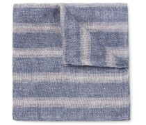 Double-faced Printed Linen And Cotton-blend Pocket Square