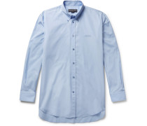 Embroidered Cotton-poplin Shirt