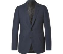 Blue Soho Slim-fit Gingham Wool Suit Jacket