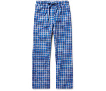 Ranga Checked Brushed-cotton Pyjama Trousers