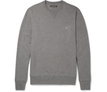 Mélange Loopback Stretch-cotton Jersey Sweatshirt